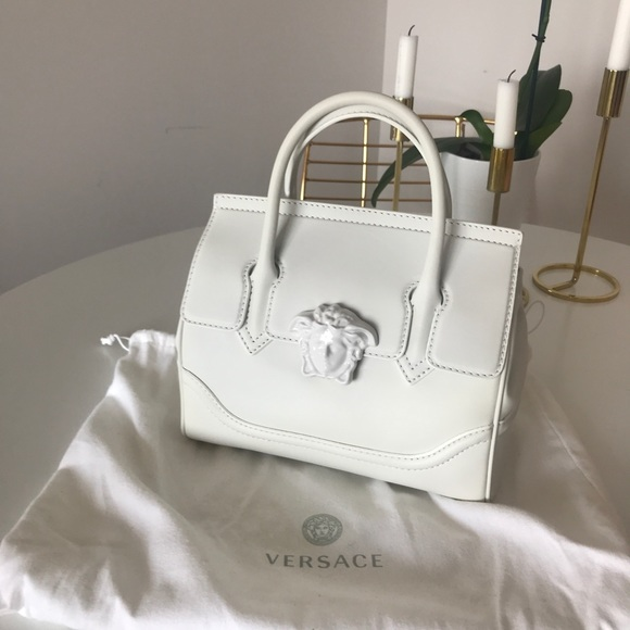 72e9e0af7f Versace Bags | White Palazzo Empire Medium Bag | Poshmark